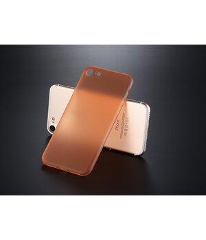 """Ультратонкий пластиковый чехол """"Ultrathin 0.3mm"""" оранжевый для iPhone 7/8"""