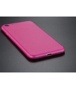 """Ультратонкий пластиковый чехол """"Ultrathin 0.3mm"""" розовый для iPhone 7/8"""