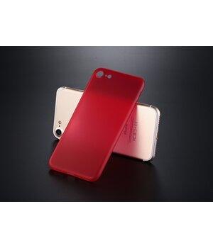 """Ультратонкий пластиковый чехол """"Ultrathin 0.3mm"""" красный для iPhone 7/8"""