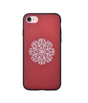 "Кожаный чехол ""Devia"" Flower Embroidery красный для iPhone 7/8"