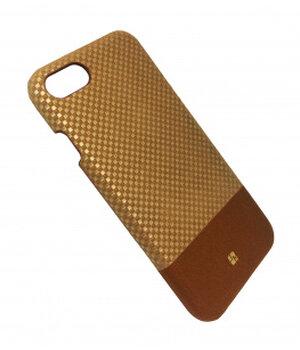"""Чехол """"JustMust"""" пластиковый для iPhone 7/8 Grid золотой"""