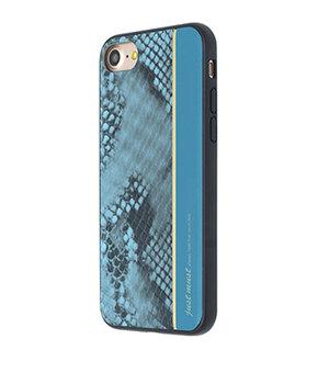 """Кожаный чехол """"JustMust"""" Fendi синий для iPhone 7/8"""