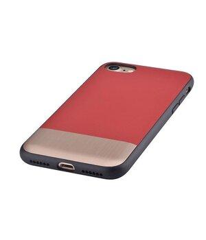 """Кожаный чехол """"Devia"""" Commander красный для iPhone 7/8"""