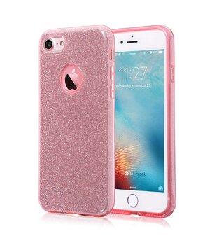 """Чехол с блестками """"Dazzling shine"""" силиконовый для iPhone 7/8 розовый"""