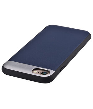 """Чехол из натуральной кожи """"Comma"""" Vivid Leather синий для iPhone 7/8"""