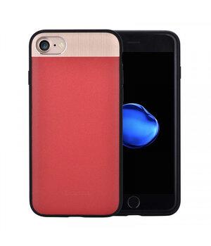 """Чехол из натуральной кожи """"Comma"""" Vivid Leather красный для iPhone 7/8"""