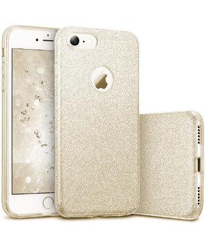 """Чехол с блестками """"Dazzling shine"""" силиконовый для iPhone 7/8 золотой"""