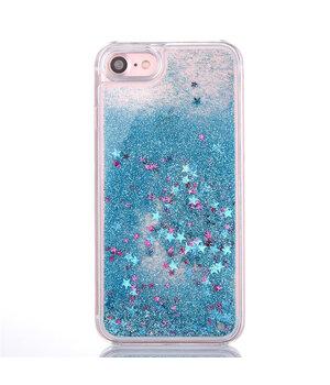 """Переливающийся пластиковый чехол """"Звездочки"""" бирюзовый для iPhone 7/8"""