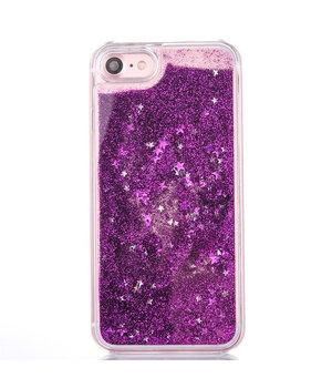 """Переливающийся пластиковый чехол """"Звездочки"""" фиолетовый для iPhone 7/8"""