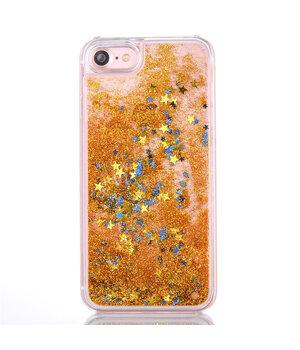 """Переливающийся пластиковый чехол """"Звездочки"""" золотой для iPhone 7/8"""