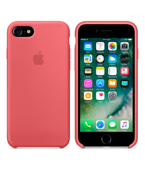 "Силиконовый чехол ""Apple Silicone Case"" Camellia Original copy для iPhone 7"