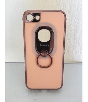"Противоударный чехол ""iPaky"" Ring Series розовый для iPhone 7/8"