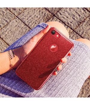 """Чехол с блестками """"Dazzling shine"""" силиконовый для iPhone 7/8 красный"""