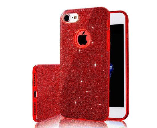 """Чехол с блестками """"Dazzling shine"""" силиконовый для iPhone 6 Plus/6S Plus красный"""