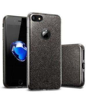 """Чехол с блестками """"Dazzling shine"""" силиконовый для iPhone 7/8 черный"""