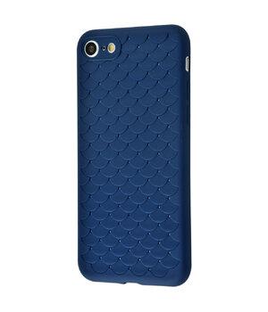 """Силиконовый чехол """"Scales"""" синий для iPhone 7/8"""