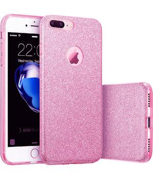 """Чехол с блестками """"Dazzling shine"""" силиконовый для iPhone 7 Plus/8 Plus фиолетовый"""