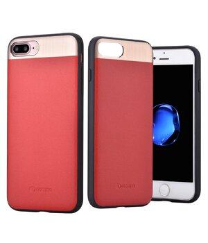 """Чехол из натуральной кожи """"Comma"""" Vivid Leather красный для iPhone 7 Plus/8 Plus"""