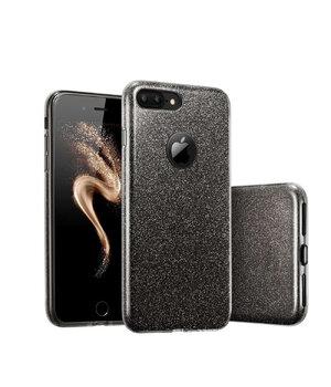 """Чехол с блестками """"Dazzling shine"""" силиконовый для iPhone 7 Plus/8 Plus черный"""
