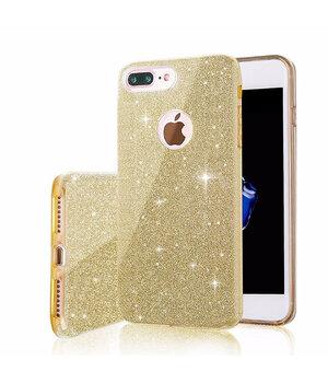"""Чехол с блестками """"Dazzling shine"""" силиконовый для iPhone 7 Plus/8 Plus золотой"""