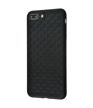"""Силиконовый чехол """"Scales"""" черный для iPhone 7 Plus/8 Plus"""