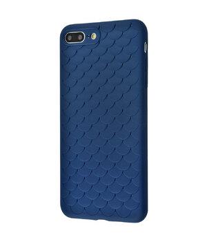 """Силиконовый чехол """"Scales"""" синий для iPhone 7 Plus/8 Plus"""