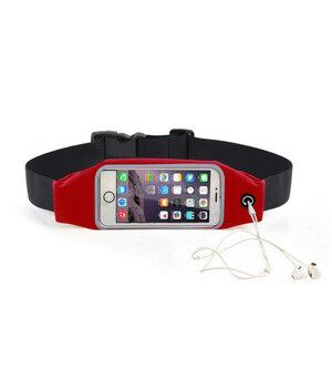 """Спортивный чехол на пояс """"Floveme"""" красный для iPhone"""