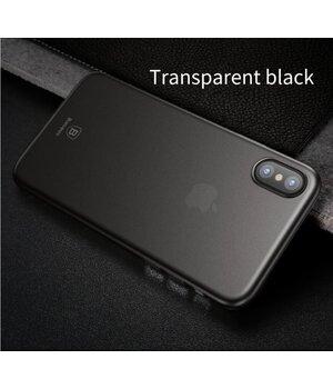 """Ультратонкий пластиковый чехол """"Baseus"""" Wing серый для iPhone X/XS"""