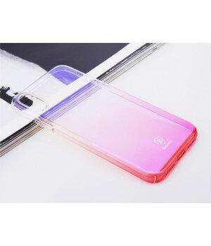 """Чехол """"Baseus"""" пластиковый для iPhone X/XS Glaze розовый градиент"""