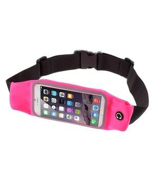"""Спортивный чехол на пояс """"Floveme"""" розовый для iPhone"""