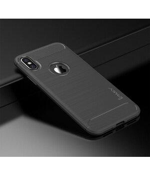 """Силиконовый противоударный чехол """"iPaky"""" Slim серый для iPhone X/XS"""