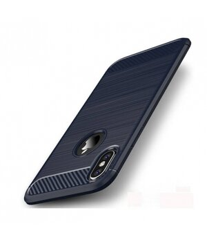 """Силиконовый противоударный чехол """"iPaky"""" Slim синий для iPhone X/XS"""