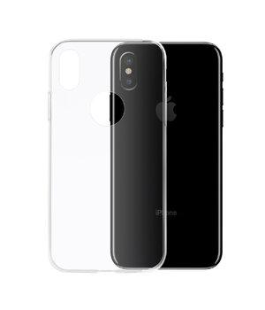 Силиконовый ультратонкий прозрачный чехол для iPhone X/XS