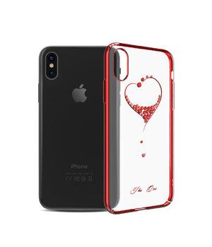 """Чехол со стразами SWAROVSKI """"Kingxbar"""" пластиковый для iPhone X/XS Wish красный"""