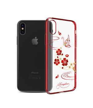 """Чехол со стразами SWAROVSKI """"Kingxbar"""" пластиковый для iPhone X/XS Exquisite красный"""