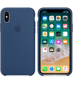 "Чехол ""Apple"" Silicone Case для iPhone X/XS Blue Cobalt (HC)"