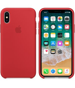"Чехол ""Apple"" Silicone Case для iPhone X/XS Red (HC)"