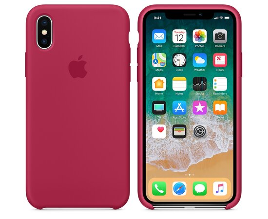 "Чехол ""Apple"" Silicone Case для iPhone XS Max Rose Red (HC)"