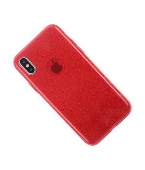 """Чехол с блестками """"Dazzling shine"""" силиконовый для iPhone X/XS красный"""