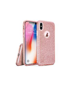 """Чехол с блестками """"Dazzling shine"""" силиконовый для iPhone X/XS розовый"""