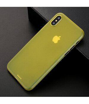 "Ультратонкий чехол ""Ultrathin 0.3mm"" желтый для iPhone X/XS"