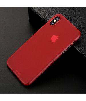"""Ультратонкий чехол """"Ultrathin 0.3mm"""" красный для iPhone X/XS"""