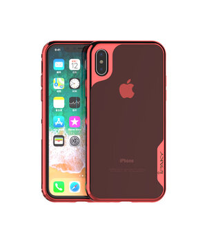 """Чехол """"iPaky"""" силиконовый для iPhone X/XS Plume красный"""