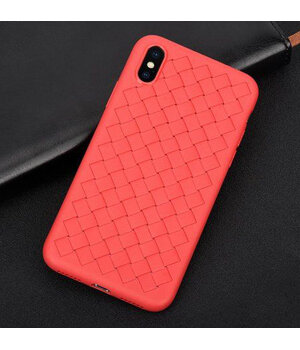 """Чехол """"Weaving"""" силиконовый для iPhone X/XS красный"""