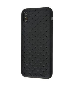 """Силиконовый чехол """"Scales"""" черный для iPhone X/XS"""
