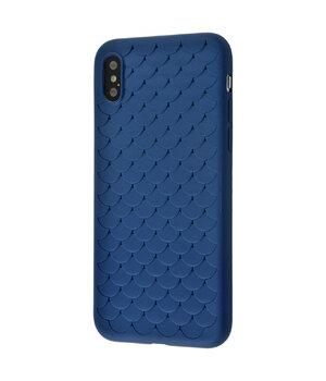 """Силиконовый чехол """"Scales"""" синий для iPhone X/XS"""
