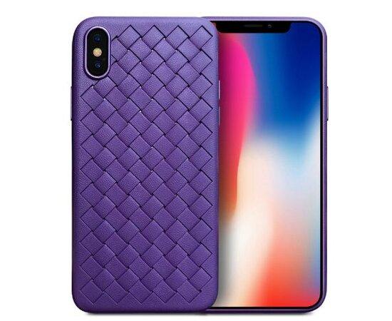 """Чехол """"Weaving"""" силиконовый для iPhone X/XS фиолетовый"""