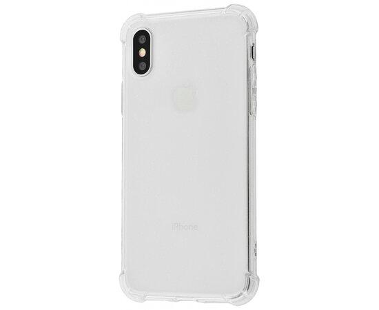 """Силиконовый противоударный чехол """"Shockproof"""" с блестками для iPhone XS Max"""