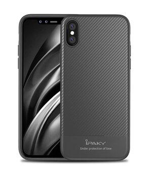 """Противоударный силиконовый чехол """"iPaky"""" Musy серый для iPhone X/XS"""