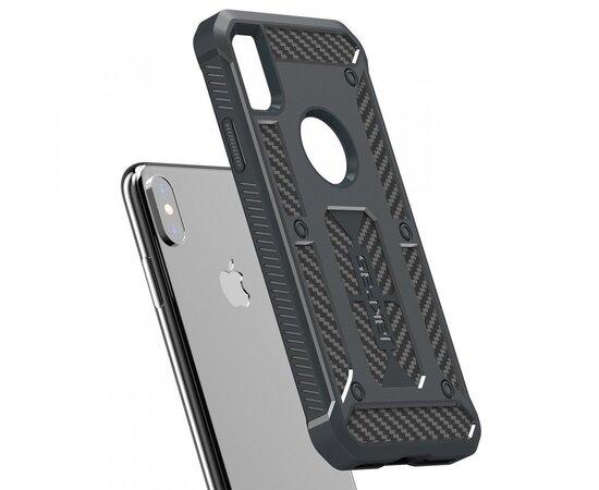 """Противоударный силиконовый чехол """"Jakpas"""" серый для iPhone X/XS"""